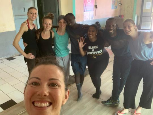 Caitlyn with team of International Trainees