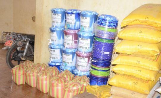 Food and sanitation supplies for distribution