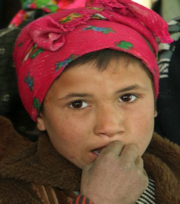 school girl in Afghanistan