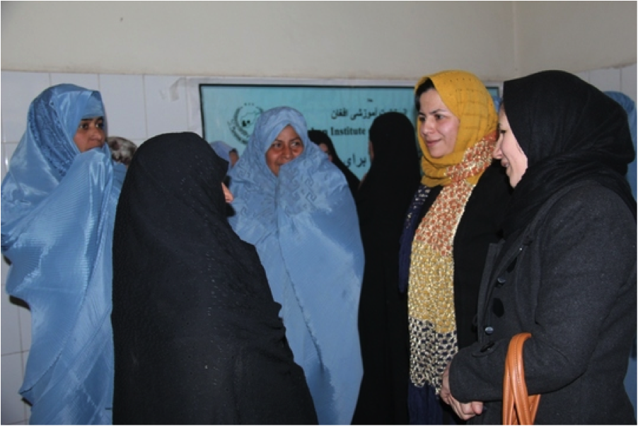 Afghan women at clinic