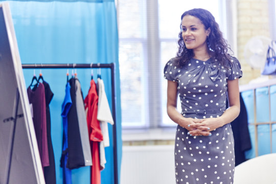 Letitia in the Smart Works dressing room
