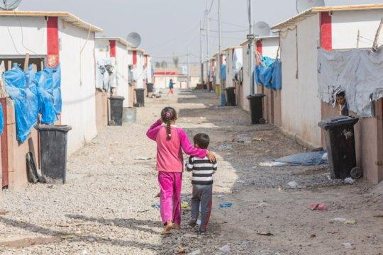 Children in Debaga camp