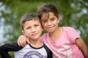 Abdul & Noor waiting at the Serbia-Hungary border