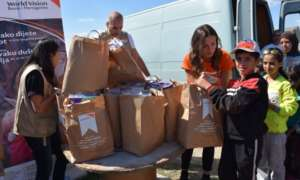 World Vision distributes baby kits to families