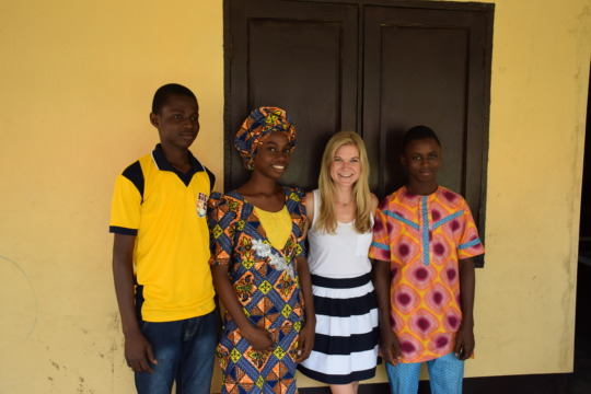 Megan with Gabriel, Margaret, and Tosin