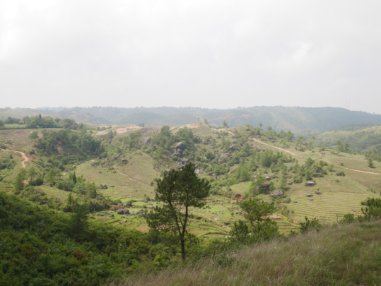 The landscape of the Khasi Hills