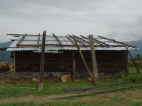 Shelter constructed with CGI sheet in ward no.3