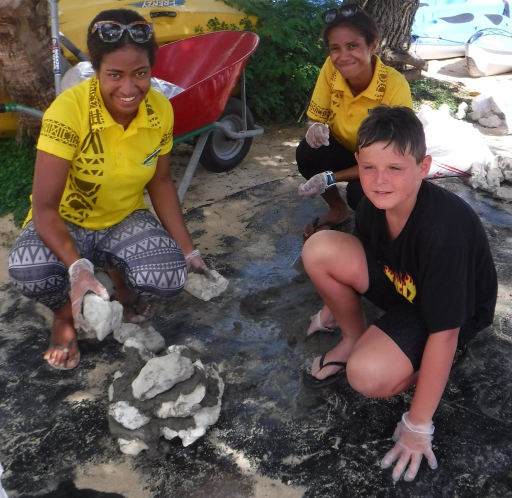 Coral Gardeners building a