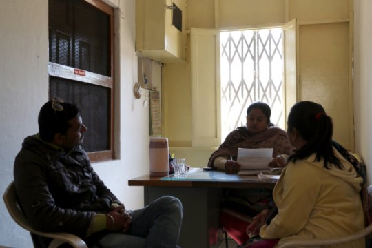 Neha and her Husband during Counselling Session