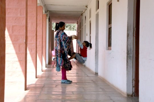 Neha with her Daughter at the Shelter Home