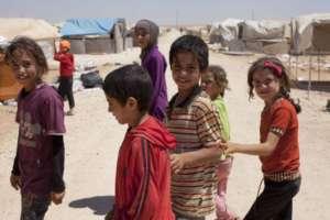 Syrian children in camp