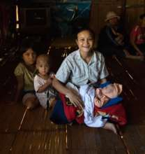Provision of baby kits to mothers from Myanmar