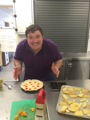 Craig at VALUES cooking session