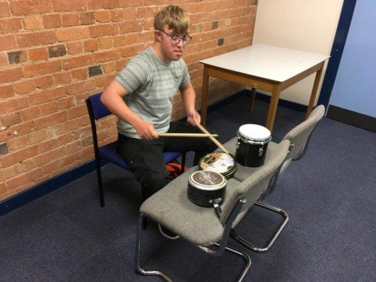 Make-shift drums
