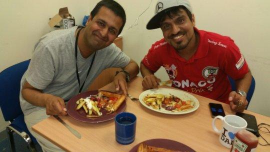 Sanjay and jai cooking
