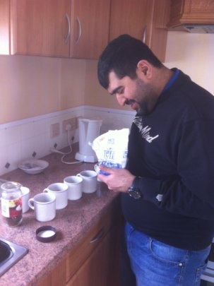 Umer making Tea