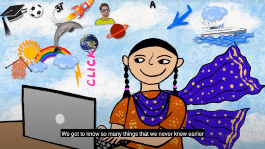 Girls and Tech SELF video(Illustrated by Vidushi)