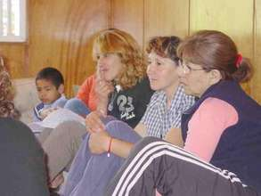 Mothers attending workshop