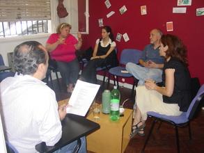 preparing workshops.