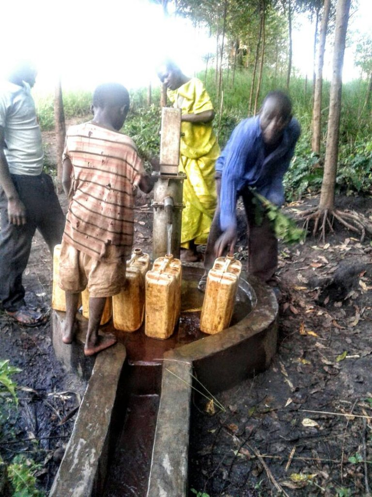 The borehole that is now in use