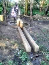 The borehole that was constructed and now in use