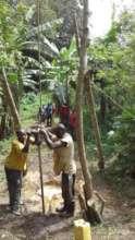 BIVA staff constructing the Borehole