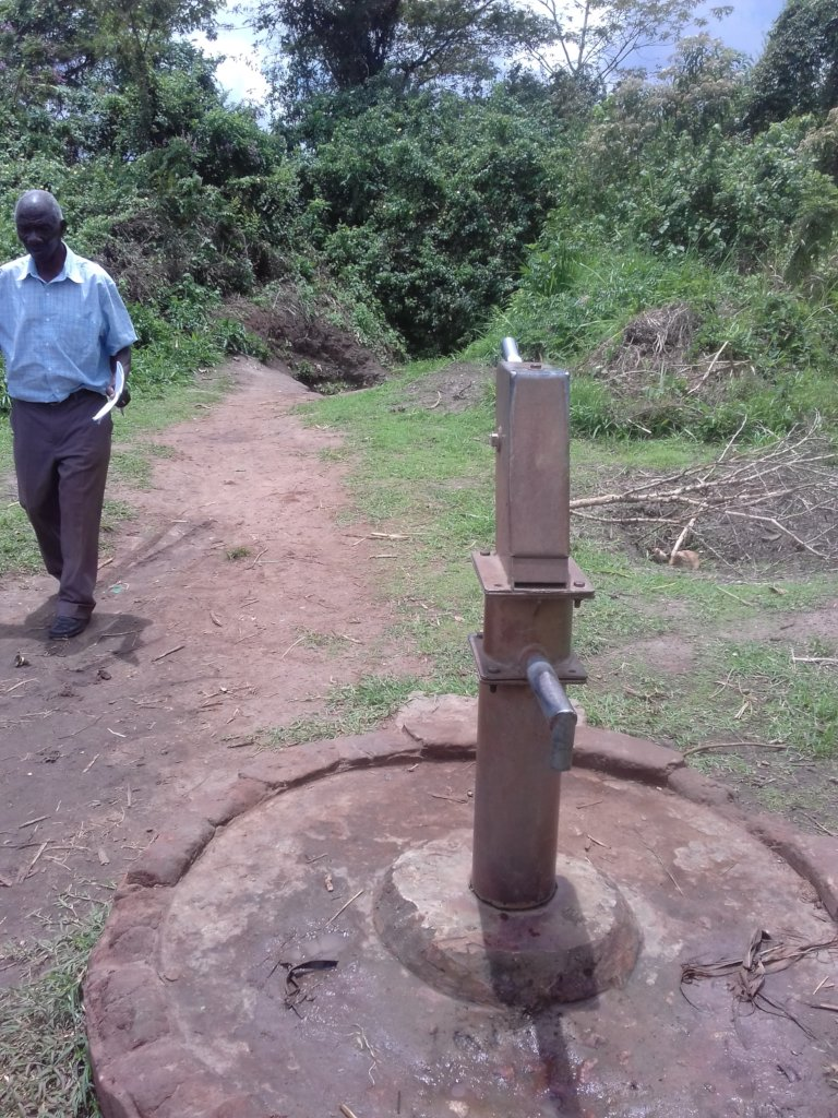 The BIVA Director inspecting the existing Borehole