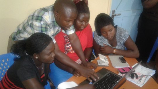 NIGEE beneficiaries during a computer training