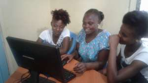 NIGEE beneficaries during computer class at GEC