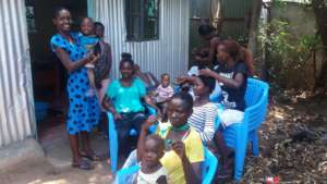 Beneficiaries at the GEC during practical session