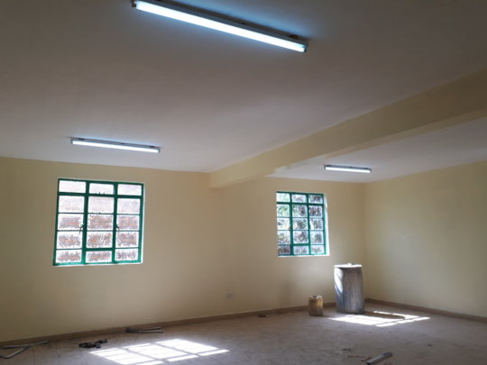 The interior section of the classroom painted