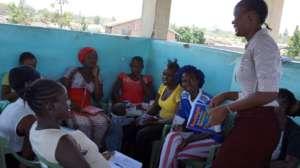 Beneficiaries at the bridge centre in Obunga