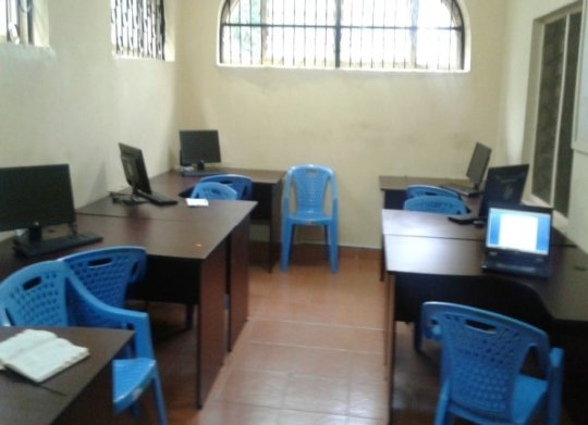 Computer training room at the GEC