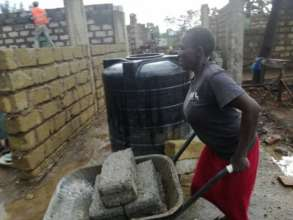 Women supporting construction of GEC