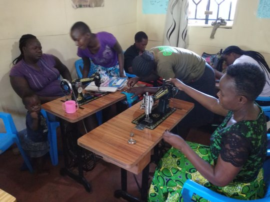 Dress-making class in progress at the GEC