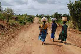 Malawi women going to market