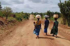 Malawi women going to market