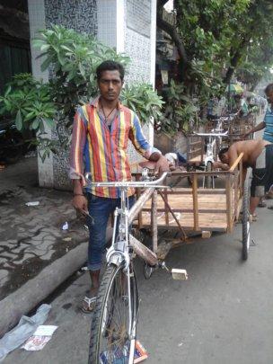 Safikul with his new cycle van