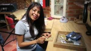 Gaby in Jewellery Workshop