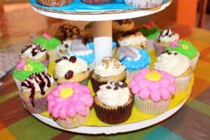 Cupcakes on display