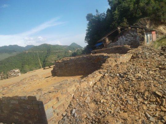 Kharpani school post earthquake 2015