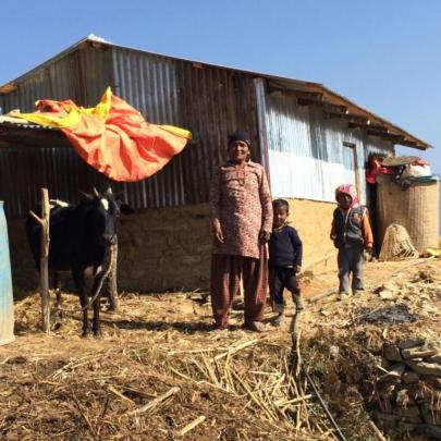 New home for family in Nagre Gagarche
