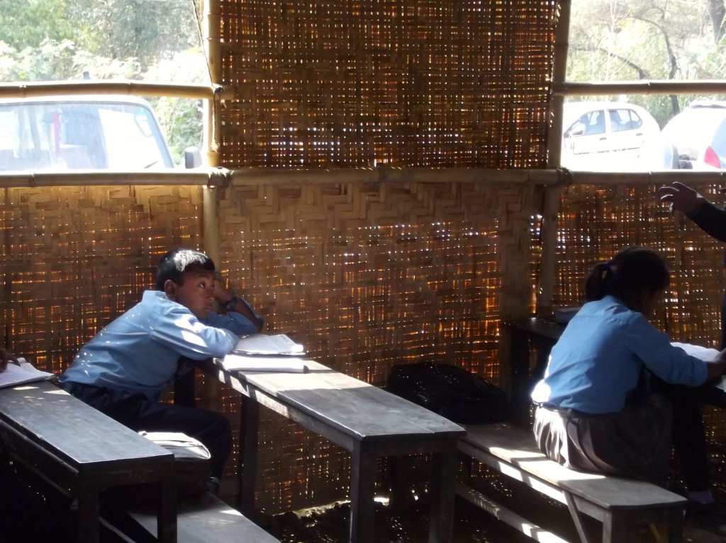 Rashan currently learns in a temporary classroom