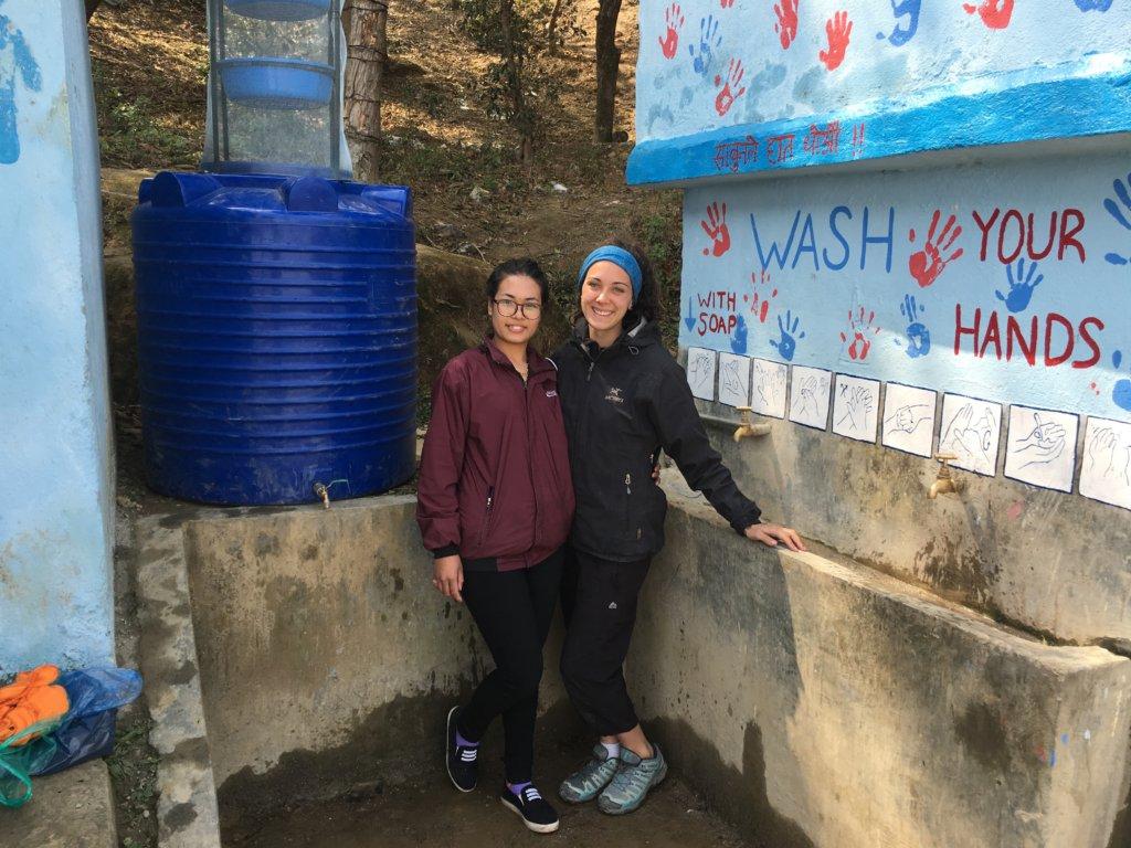 Sarah (right) increased our Santa Krishna impacts