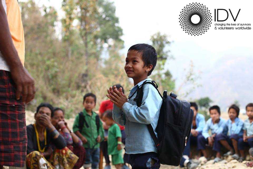 Bikash was delighted with his uniform and bag