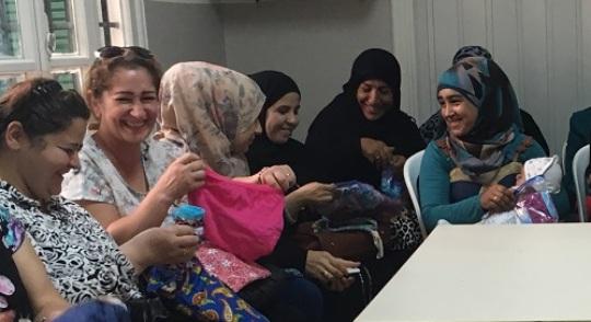 Women in Beirut- their smiles speak volumes