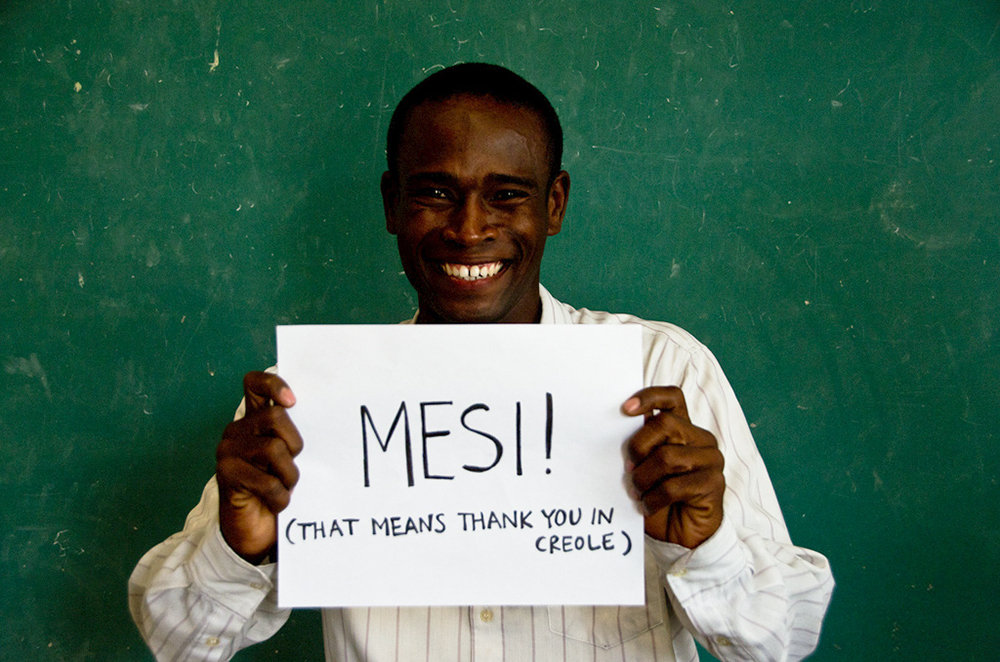 """On behalf of Ansly, """"Mesi"""" (or Thank You)"""