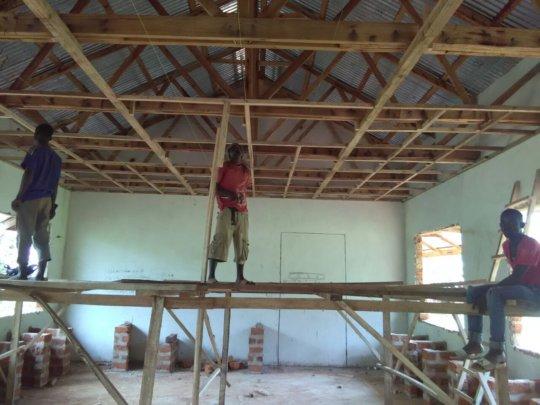 Builders Framing Roof in Lab