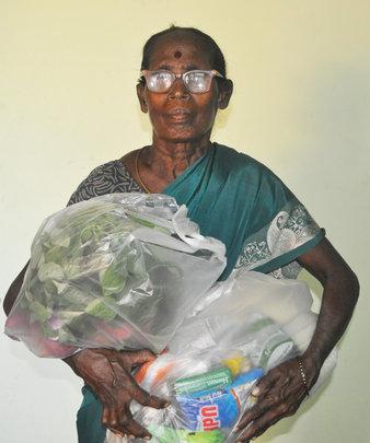 Sponsor food groceries to neglected elderly women