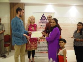Appreciation of volunteers in Annual day Celeb